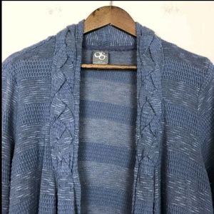 Anthropologie Sweaters - 3/$30 Anthropologie Blue Striped Open Cardigan 418